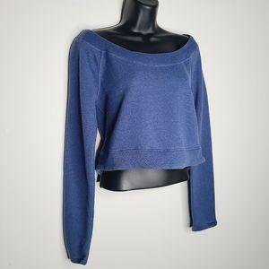 Lululemon Good Karma Cropped Pullover - Heathered Royalty